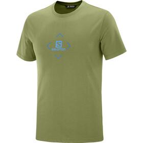 Salomon Coton Logo T-shirt Heren, martini olive/indigo bunting/blithe